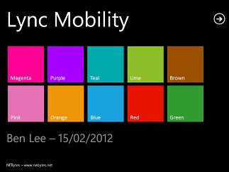 Lync Mobility Slides