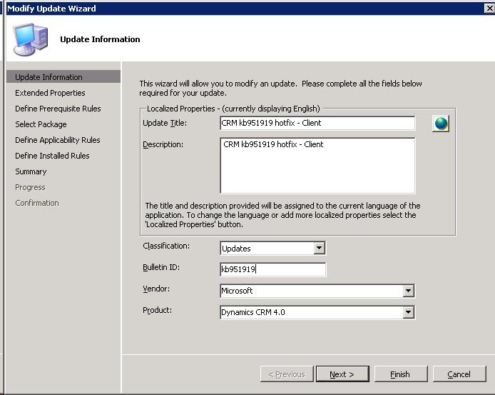 Deploying CRM client updates with SCCM | Bibble-IT com