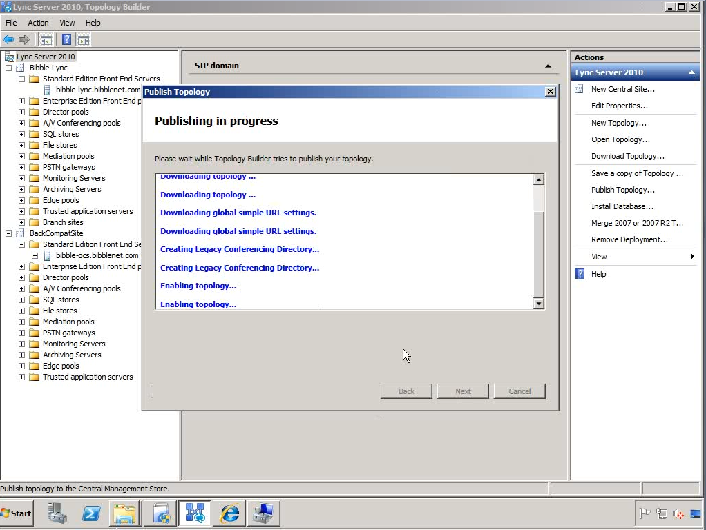Upgrading OCS 2007 R2 to Lync 2010 – Part 2
