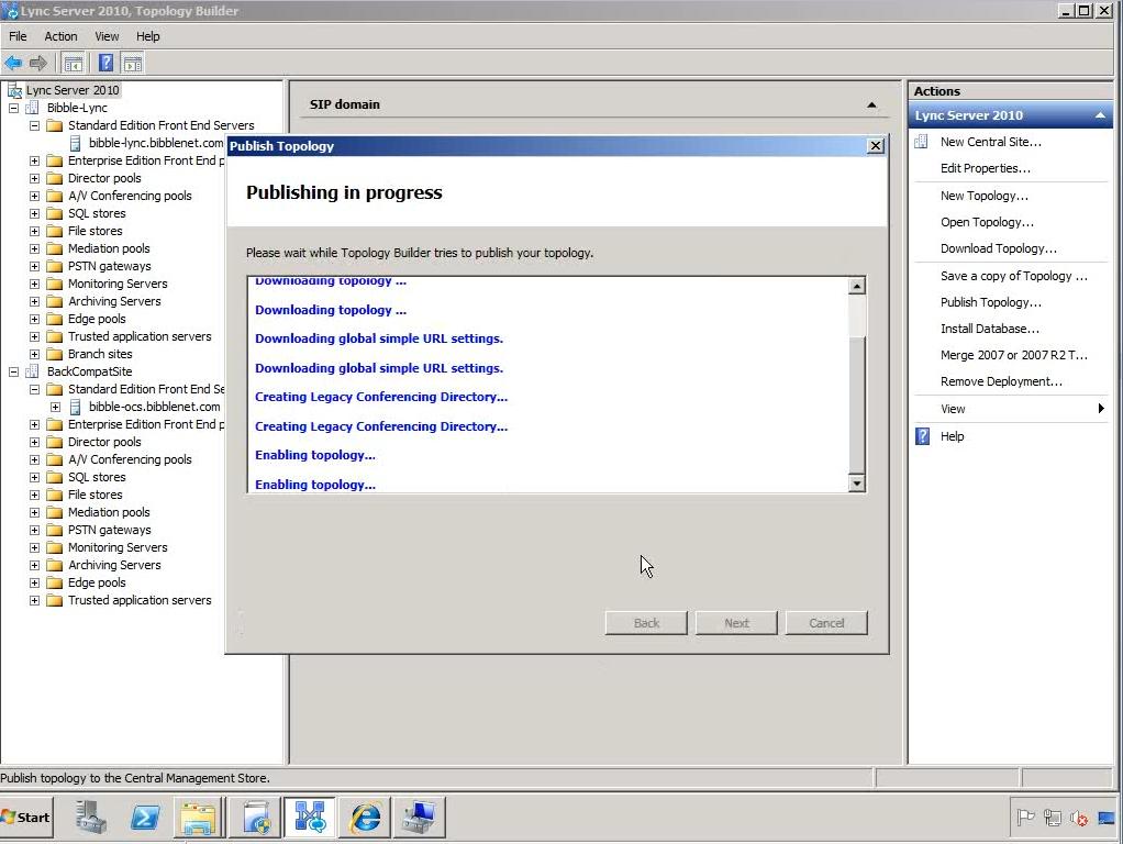 Upgrading OCS 2007 R2 to Lync 2010 – Part 2