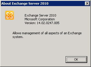 Quick step-by-step Exchange 2010 SP2 install guide