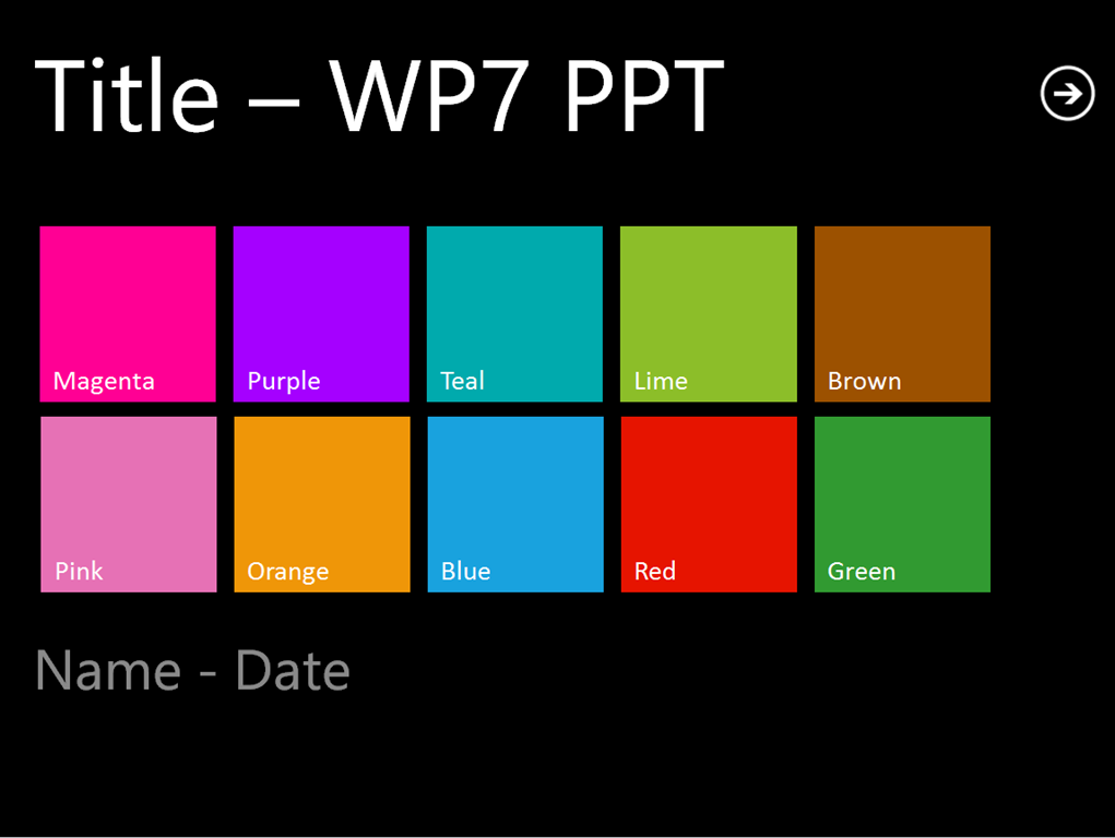 metro  wp7  inspired powerpoint template