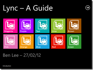 Lync – A Guide slides
