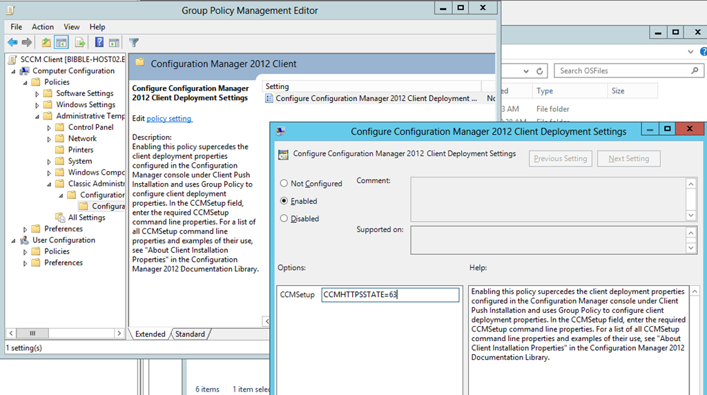 SCCM 2012 client deployment fails in HTTPS mode | Bibble-IT com