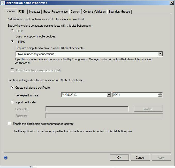 SCCM 2012 client deployment fails in HTTPS mode | Bibble-IT com